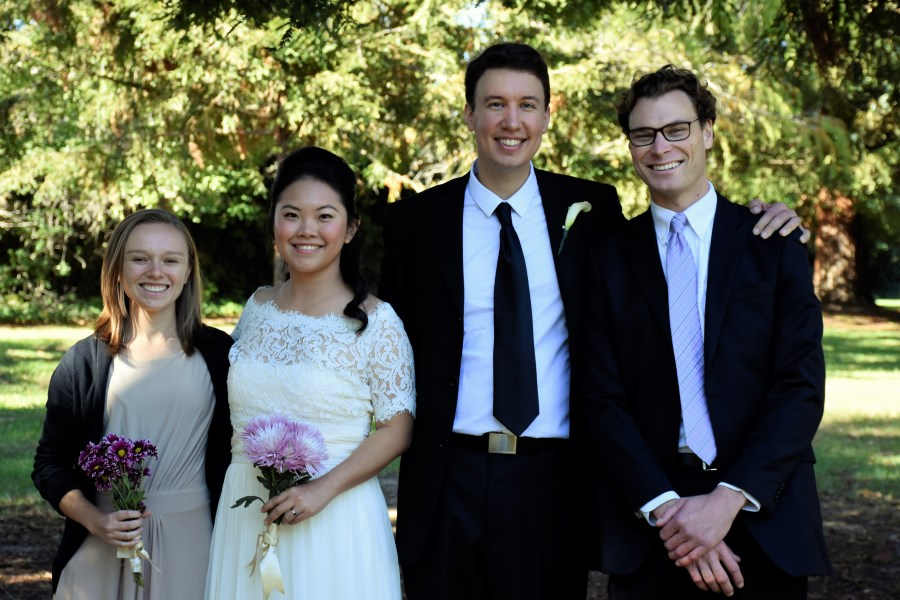 Bri, Monika, John and JR - Wedding Party, November 2016 in Montecito